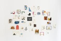 Ana Mazzei,Sans titre, 2018, Wood, painted wood, iron, felt, tempera on linen, acrylic on linen, Dimensions variable