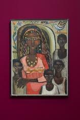 Gazbia Sirry, Portrait of a Nubian Family, 1962, Oil on canvas, 72 x 53 cm