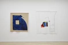 Ana Mazzei,Jimand Predio, 2017, Paint on linen, (Jim) 150 x 130 cm, (Predio)165 x 150 cm