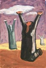Mahmoud Hammad, Thirst, 1960, Acrylic on paper, 50 x 34 cm