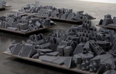 Nazgol Ansarinia, The Mechanisms of Growth, Demolishing buildings, buying waste (detail), 2017