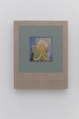 Kamrooz Aram, Variations on Glazed Bricks (1), 2021, Oil, color pencil and book pages on linen, 60.96 x 40.64 cm