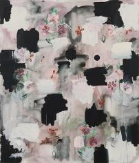 Kamrooz Aram, Maspeth Rituals (Palimpsest #14), 2013, Oil, oil pastel and wax pencil on canvas, 213 x 183 cm