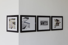 Seher Shah, Capitol Complex, 2012, Collage on paper, 28 x 36 cm (each)