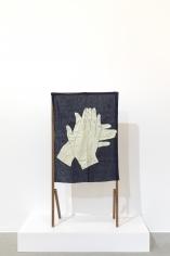 Ana Mazzei, Run Rabbit Run: My Hands, 2018, Beechwood and cambric linen