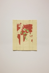 Ghaith Mofeed, Citizen of my World, 2018, Screen printed, sewn canvas, 40 x 50 cm