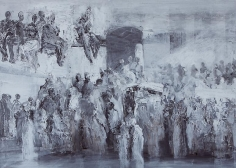 Ahmad Moualla, Untitled, 2011, Mixed media on canvas, 71.5 x 98 cm