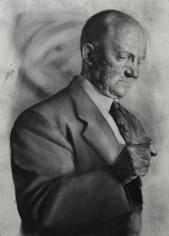 Mircea Suciu, Speachless, 2012, Charcoal on paper, 101 x 72 cm