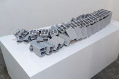 Nazgol Ansarinia, Ceramic Brick, Demolishing buildings, buying waste, 2017, Poly-urethane and paint, 71 x 23.5 x 149 cm