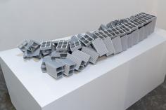 Nazgol Ansarinia, Ceramic Brick, Demolishing buildings, buying waste, 2017, Poly-urethane and paint, 71x 23.5x 149cm