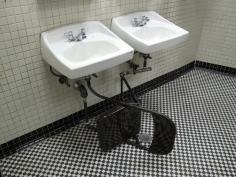 Shadi Habib Allah, Chair Sink, 2009, Folding industrial chair, plumbing bits, sketches, Dimensions variable