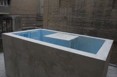 Nazgol Ansarinia,The Inverted Pool, 2019, Concrete, metal, pigment and plaster