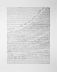 Seher Shah, Brutalist Traces (Barbican-London), 2015, Graphite on paper, 127 x 101.6 cm