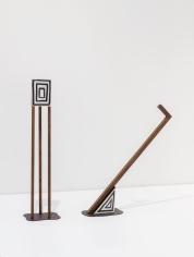 Ana Mazzei, Hypnosis I-II, 2018, Painted Wood (Chene Oak, Acajou and Plywood),