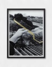 Hera Büyüktaşçıyan, Studies On Threads and Frequencies (detail), 2019, Golden leaf on photographic paper
