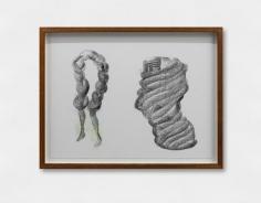 Hera Büyüktaşçıyan, Geodetic Threads Vol. I (detail), 2019, Print, graphite, color pencil on paper