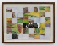 Chaouki Choukini, Paysage Decoupé recomposé 9, 1991, Watercolor on paper, 30 x 40 cm