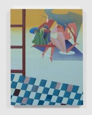 Maryam Hoseini,Ghost Watcher 4, 2020, Acrylic, ink and pencil on wood panel