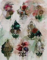 Kamrooz Aram, Palimpsest (for Beirut), 2011, Oil on canvas, 213 x 168 cm