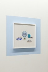 Kamrooz Aram, Ancient Blue Ornament: Still Life with Bottle(detail), 2016 - 2018, Framed archival pigment prints on painted wall
