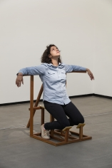 Ana Mazzei, Ecstasy, 2015, Wood and felt, 120 x 150 x 60 cm
