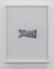 Nazgol Ansarinia, Untitled, Demolishing buildings, buying waste, 2018, Ink and marker on paper, 35.5 x 28 cm