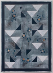 Kamrooz Aram, Ornamental Composition for Social Spaces 10, 2017, Oil, wax, oil crayon and color pencil on canvas,198.12 x 142.24 cm