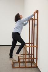 Ana Mazzei, Ascension, 2015, Wood and felt, 190 x 70 x 80 cm