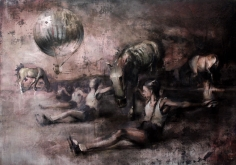 Zsolt Bodoni, In Bloom, 2012, Acrylic and oil on canvas, 180 x 260 cm