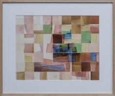 Chaouki Choukini, Composition recomposé 1, 1990, Watercolor on paper, 35 x 45 cm