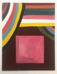 Ana Mazzei, Pink Square, 2018, Vinyl and tempera paint on canvas board