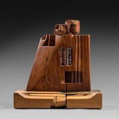 Chaouki Choukini, Dame de Coeur, 2007, Chêne/Oak & Bubinga, 42.5 x 43.5 x 19 cm