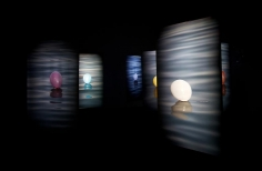 Hale Tenger, Balloons on the Sea, 2011, 7-channel video installation with audio by Serdar Ateser