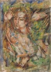 Elias Zayat,Study for Triptych (left canvas), 2014, Tempura on paper, 70 x 50 cm
