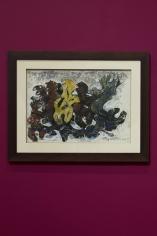 Margo Veillon, Metamorphose, 1967, Mixed media on paper, 35 x 50 cm
