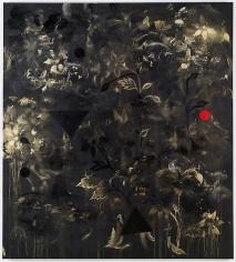 Kamrooz Aram, Backdrop for an Anxious Interior, 2012, Oil and acrylic on canvas, 152 x 137 cm