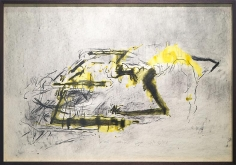 Shawki Youssef, In that map are drafted with ribs, 2013, Mixed media on paper, 70 x 100 cm