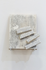Hera Büyüktaşçıyan, Icons for builders, 2017, Wood and marble, 21 x 29 cm
