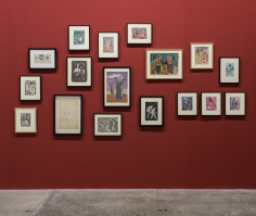 Works on paper: Hikayat, Installation view at Green Art Gallery, 2014