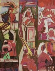 Jamil Molaeb, Untitled, c. 1992, Pastel on canson paper, 65 x 50 cm