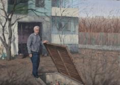 Serban Savu, The Storeroom, 2012, Oil on canvas, 42 x 59 cm