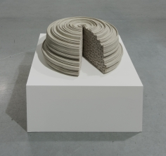 Nazgol Ansarinia, Article 49, Pillars, 2014, Cast resin and paint, 40 x 40 x 20 cm, Ed. of 3