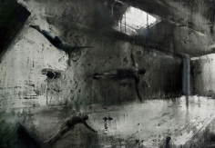 Zsolt Bodoni, Educatio, 2012, Acrylic and oil on canvas, 70 x 100 cm