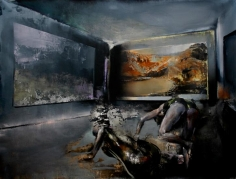 Zsolt Bodoni, The Room, 2012, Acrylic and oil on canvas, 150 x 200 cm