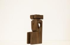 Chaouki Choukini, Ramses, 2019, Iroko, 40.5 x 19.5 x 12 cm