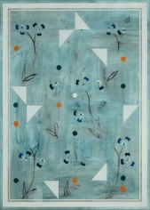 Kamrooz Aram, Ornamental Composition for Social Spaces 12, 2017, Oil, wax, oil crayon and color pencil on canvas,198.12 x 142.2 cm