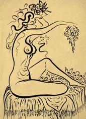 Adham Ismail, Untitled, Ink on carton, 44 x 32 cm
