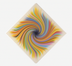 Experienced (Spiral), 2013, synthetic polymer on canvas,84 × 84 in
