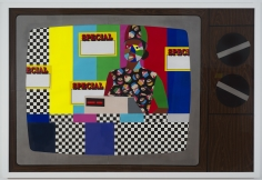 """Derrick Adams """"They All Want Cake"""", 2014 Mixed media collage on paper and mounted on archival museum board 48 x 72 inches"""