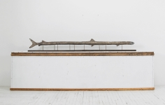 """Zachary Armstrong """"Long Fish"""", 2018  Bronze  12 x 96 x 4-3/4 inches"""